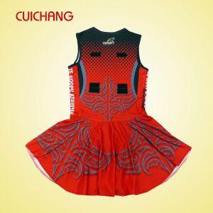 Wholesale Heat Transfer/Silk Screen Print Polyester/Cotton Custom Design Women Tennis/Netball Dress, Sport Skirt