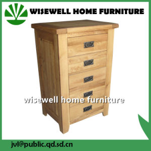 Oak Wood Drawer Chest for Bedroom (W-CB-508) pictures & photos