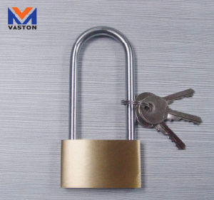 Long Shackle Brass Padlocks, Comes in Thin Type pictures & photos