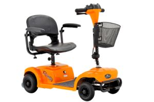 Four Wheels Mini Foldable Electric Scooter with Basket (EMW41) pictures & photos