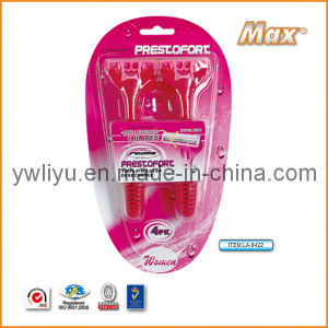 High Quality Triple Stainless Steel Blade Disposable Shaving Razor (LA-8422) pictures & photos