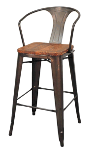Antique Steel and Wood Barstool pictures & photos