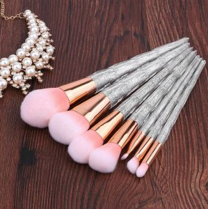 7-Piece Crystal Makeup Brushes Unicorn Shiny Handle OEM Acceptable pictures & photos