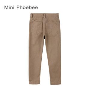 Phoebee Skiny Khaki Plain Cotton Clothes Kids Girls pictures & photos