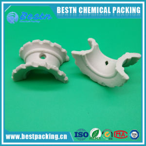 High Quality Industrial Random Packing 16mm 25mm 38mm Ceramic Super Intalox Saddles pictures & photos