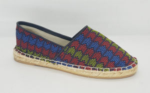 Women′s Casual Canvas Jute Flat Shoes pictures & photos