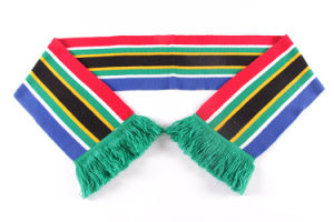 Wholesale Custom Design Acrylic Knitted Soccer Fan Football Scarf pictures & photos
