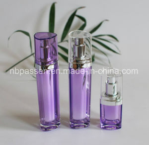 15/50ml Purple Acrylic Bottle with Lotion Pump for Cosmetics (PPC-NEW-093) pictures & photos
