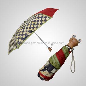 5 Fold Mini Cartoon Handle Manual Open Rain/Sun Umbrella (JF-MMO501) pictures & photos