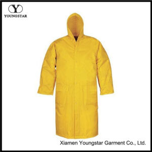 Durable Polyester Fashion Long Adult Raincoat pictures & photos