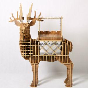 Creative Wooden Deer Wine Rack Crafts pictures & photos