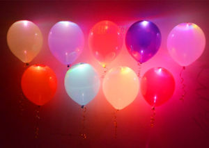 Multi-Color Latex Flash Light LED Balloon pictures & photos