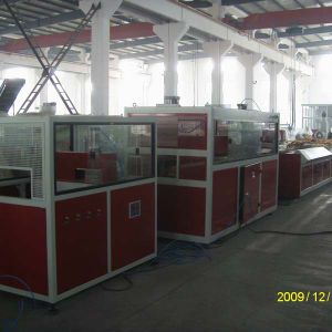 Wood Plastic Composite Extruder WPC Profile Production Line with Double Screw Extruder pictures & photos