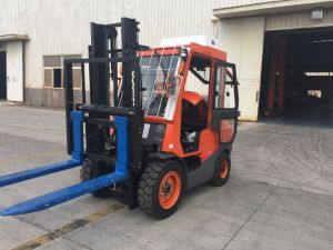 3.5t Automatic Diesel Forklift with Cab Fd35t pictures & photos