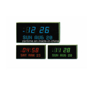 High Quality LED Digital Electronic Wall Time and Calendar Clock pictures & photos