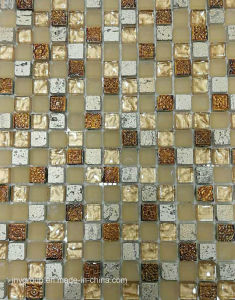 Small Chip Glass Mosaic with Stone and Resin Jy02k pictures & photos