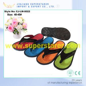 Fashion High Quality Men Beach EVA Flip Flops PU Upper pictures & photos