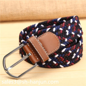 Leather Unisex Knitted Elastic Braid Belt