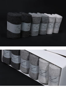 Anti-Bacterial and Anti-Odour Silver Fiber Cotton Socks for Men pictures & photos