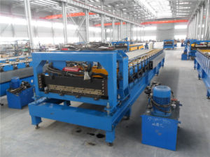 Cold Rolled Trapezoidal Type Steel Tile Roll Forming Machine pictures & photos