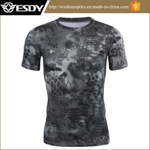 New Summer Black Camouflage Quick-Drying T-Shirt Men pictures & photos