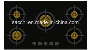 High Quality 5 Full Brass Burner Gas Hob (8mm glass) pictures & photos
