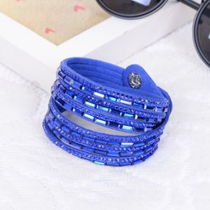 Fashion Resin Crystal Bangle Leather Bracelet Jewelry pictures & photos