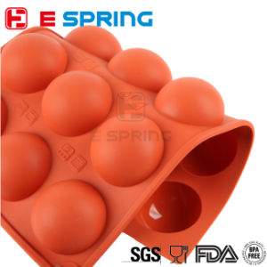 8 Cavities Round Shapes Cake Decoreting Silicone Bakeware Ice Cube Tray Biscuits Jelly Pudding Mold Chocolate Sugar Paste Tools pictures & photos