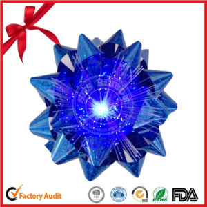 LED Light Ribbon Bow with Battery / 7 Color Star Bow pictures & photos