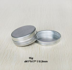 15g Lip Balm Container Aluminum Metal Tin Can Screw Top pictures & photos