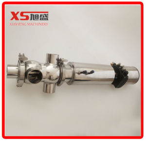 Dn65 Stainless Steel Sanitary Double Seat Mix-Proof Valve with C-Top pictures & photos