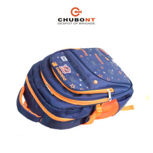Chubont New Contrast Color Schoolbag Backpack Paded with Rain Cover pictures & photos
