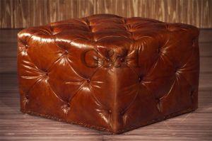 Vintage Leather Ottoman pictures & photos