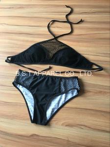 Sexy Ladies Crochet Two-Piece Bikini Swimwear (MQG-171M) pictures & photos