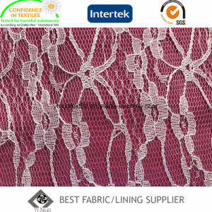 100% Polyester Lace Lining Fabric pictures & photos