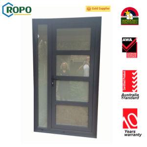 Australia Standard PVC Grey Color French Casement Door, Main Door with Grill Designs pictures & photos