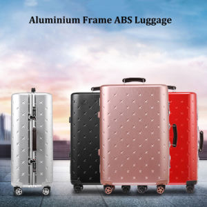 Magllu Luggage Travel Set Bag ABS+PC Trolley Suitcase White pictures & photos
