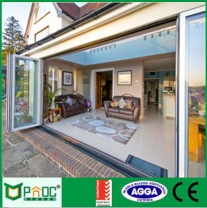 Folding Door with Aluminum Profile and Double Glass pictures & photos
