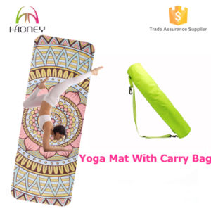 Exercise Yoga Mat with Carrying Strap for Fitness & Workout pictures & photos