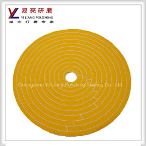 Yellow Clothe Stainless Steel Surface Fine Mirror Polishing Buffing Wheel pictures & photos