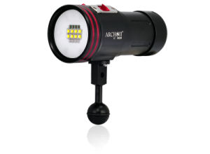Underwater 100m 5000lm Rechargeable Torch 18650 Battery Video Light pictures & photos