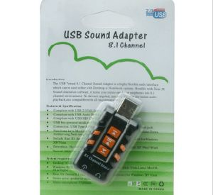 Good Quality 8.1 Channel USB 2.0 Sound Card pictures & photos