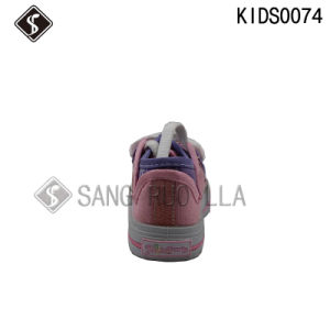 Fashion Style Kids Sports Canvas Walking Shoes pictures & photos