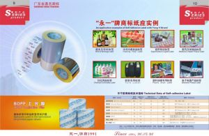 Self Adhesive PVC Label Material pictures & photos