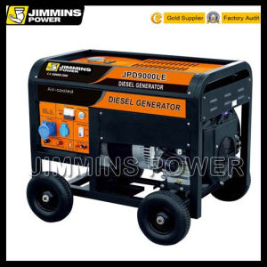 8kVA 8kw 8000W 10kVA Single/Three Phase Two Cylinder Home Portable Diesel Electric Generator Price (open & silent type) pictures & photos