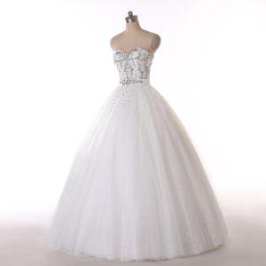 Beaded A Line Floor Length Wedding Dress pictures & photos