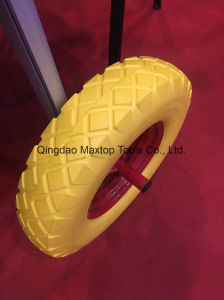 Maxtop Solid Flat Free PU Foam Wheel pictures & photos