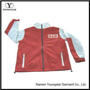 Ys-1041 Hooded Waterproof Nylon Jacket Womens Mens Raincoats pictures & photos
