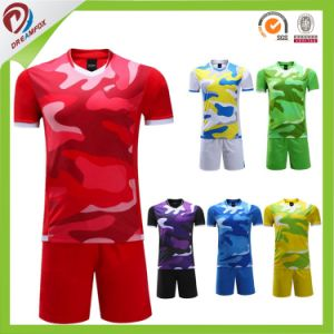 Free Custom Sublimated Football Soccer Jersey with No MOQ Request pictures & photos