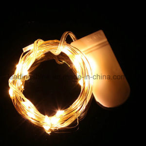 New Battery Operated 6.6FT 20 Micro LEDs Warm LED Rope Light pictures & photos